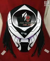 predator motorcycle helmet dot approved black white custom