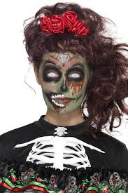 day of the dead zombie makeup kit accessories mega fancy dress