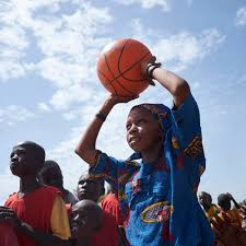 three basket to help kids so they can exercise and play