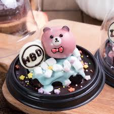 Bear Snowflake Ball Brownie Mini Cake 12 People Share Customized
