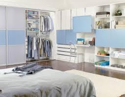 blue accented reach in closet