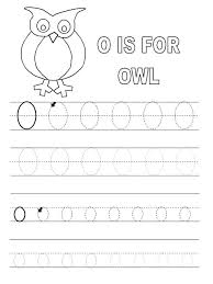 Letter O Tracing Worksheets | Learning Printable