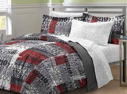 graffiti bedding black and red twin full comforter and bed sheet set
