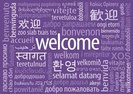 Welcome Purple Welcome Poster In Purple Color And Horizontal Orientation