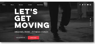 Personal Trainer Program Design Templates Personal Trainer Website Design Template Personal Trainer Website