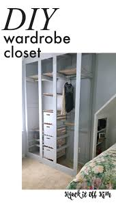 how to make a wardrobe closet from scratch