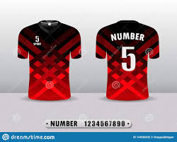 Football Shirt Designs Football Shirt Design T Shirt Sports Black And Red Color