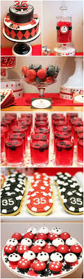 Poker Party Dessert Table. Everything looks so cool! Find everything you  need to plan