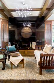Oriental Asian Inspired Sitting Room With Black Stone Fireplace (Image 11  of 20)
