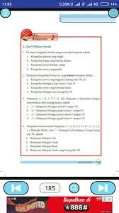 Demikian kunci jawaban ipa kelas 7 semester 2 halaman 39 40. Jawaban Soal Matematika Kelas 7 Halaman 185 Kumpulan Contoh Surat Dan Soal Terlengkap