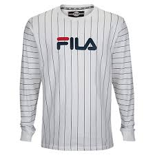 fila long sleeve t shirt. fila mario long sleeve t-shirt - men\u0027s casual clothing white/navy t shirt i