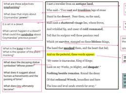 ozymandias poem breakdown co power and conflict ozymandias poetry analysis by lhowellpratt