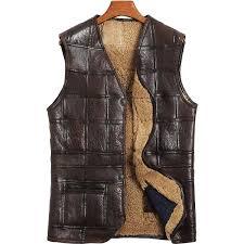2019 genuine leather vest men 100 wool fur liner short coat winter jacket men sheepskin vests plus size chalecos para hombre my1574 from chencloth66