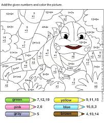 Addition And Subtraction Color By Number Addition And Subtraction