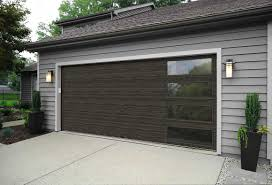 Modern garage doors Custom Modern Steel Garage Doors Modern Steel Collection Flush With Windows Ultragrain Cypress Slate Finish Clopay Garage Doors Modern Steel Garage Doors Clopay Modern Steel Collection