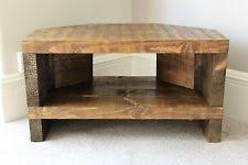 corner tv stand. rustic handcrafted chunky reclaimed corner tv unit stand in walnut wax tv