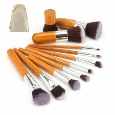 professional bamboo makeup brush set