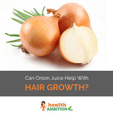 does onion juice help hair growth