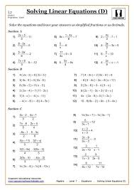 ks3 ks4 maths worksheets printable with answers math practice sheets for kindergarten solving equations worksheet algebra