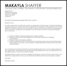 assistant marketing manager cover letter sample marketing manager cover letters