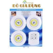 Đèn LED dán tường Bộ 3 bóng đèn kèm điều khiển có điều khiển từ xa hẹn giờ  điều chỉnh mức sáng tiện lợ tại Hà Nội