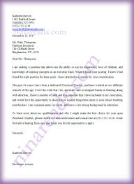 Sample Application Cover Letter For A Preschool Teaching With