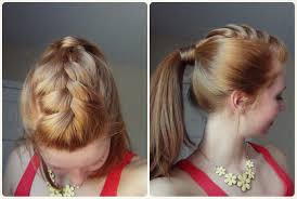 You Tube Hair Style spring hairstyle ponytail with french braid youtube 5422 by wearticles.com