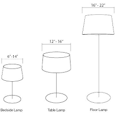 Amazing Lamp Shade Size Fitter Sizing Floor And Idea Us