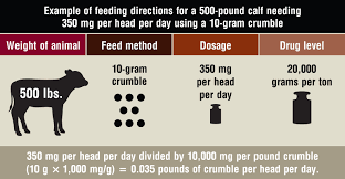 Cow Feeding Chart How To Correctly Calculate Grams Per Ton Of Drugs In Feed