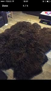 extra large sheepskin rug