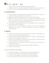 case study template what were the 4 reasons