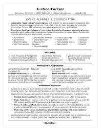 Print Resume Event Planning Resume Coordinator Sample Sufficient Print With 16