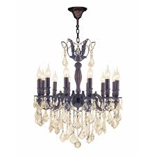 worldwide lighting versailles 12 light flemish brass chandelier with golden teak crystal