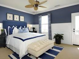 living ideas bedroom blue accent wall stripes carpet plant curtains 77 decorating ideas bedroom for a