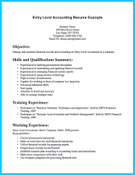 Sample For Writing An Accounting Resume Examples Of Accounting