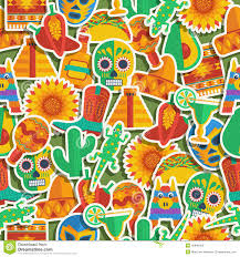 Mexican Pattern Enchanting Mexican Pattern Stock Vector Illustration Of Cactus 48