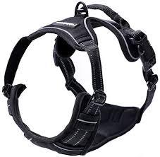Rabbitgoo No Pull Dog Harness Black Medium
