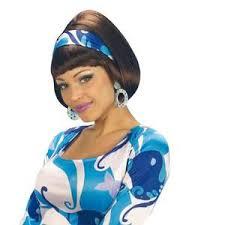 Perruque Disco Années 70 Marron Femme Années 70 Disco