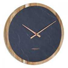 large carbon wall clock