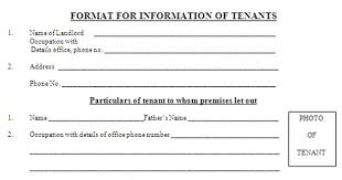 Delhi Police Tenant Verification Form Ebook Download