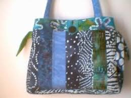 Best 25+ Quilted bags patterns ideas on Pinterest | DIY quilted ... & Homemade Quilted Bags Patterns Free | Quilted Jelly Roll Fabric Purse Tote  Bag Blue Batik | Adamdwight.com
