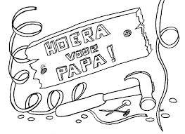 Kleurennu Hoera Voor Papa Kleurplaten Verjaardag Papa Kleurplaat