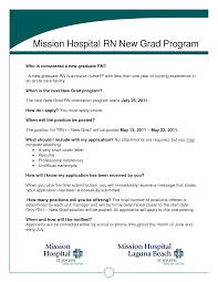 New Registered Nurse Graduate Resume Sidemcicek Com