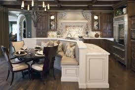 Dark Wood Kitchen Classic Kitchen Ideas With Dark Wood Brown Cushion 4 Seating