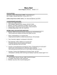 Sample undergraduate student resume for internship: Sample Resumes Center For Career And Professional Development