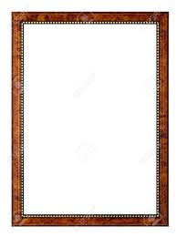 An empty frame, isolated on white Stock Photo - 601472