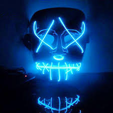 Led Light Up Mask Purge Us 6 39 36 Off Halloween Mask Led Light Up Funny Masks Purge Election Year Great Festival Cosplay Costume Supplies Party Masks Glow In Dark A65 In