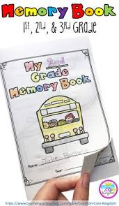end of the year memory book 1st 2nd 3rd grade