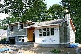 How To Make A Split Level More Modern Larchmont Split House - Split level exterior remodel