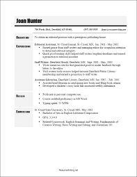 most common resume format common resume objectives